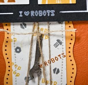 I love Robots Card, close up. Dedicated to Chief - Battlestar Gallactica