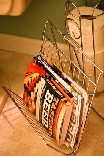 Bathroom Magazine Rack - Metal