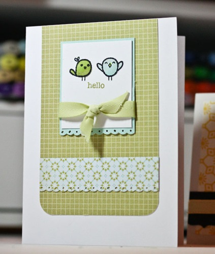 My Cute Stamps Hello Birdie card