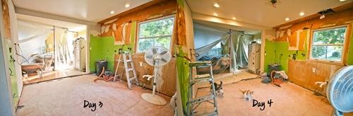 Kitchen Renovation Day 3 vs Day 4