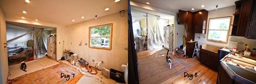 Kitchen Renovation Day 7 vs Day 8