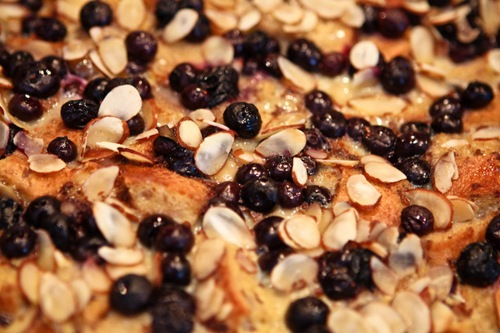 Blueberry Almond French Toast Bake