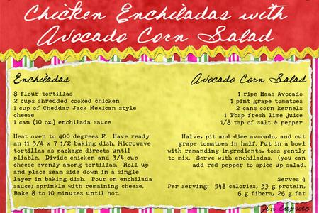 Chickenenchiladaswithavocadocornsaladjen